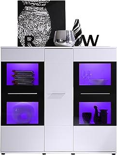Maisonnerie 1122-863-03 Commode/Armoire/Buffet Design Maxx Ultrabrillant Blanc 160 X 148 X 41 cm
