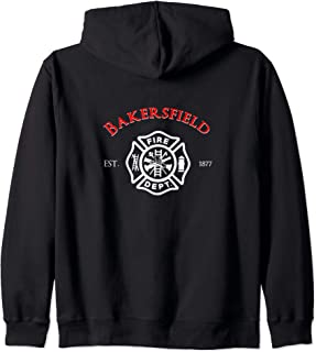 Bakersfield Fire Rescue Department California Firefighter Zip Hoodie