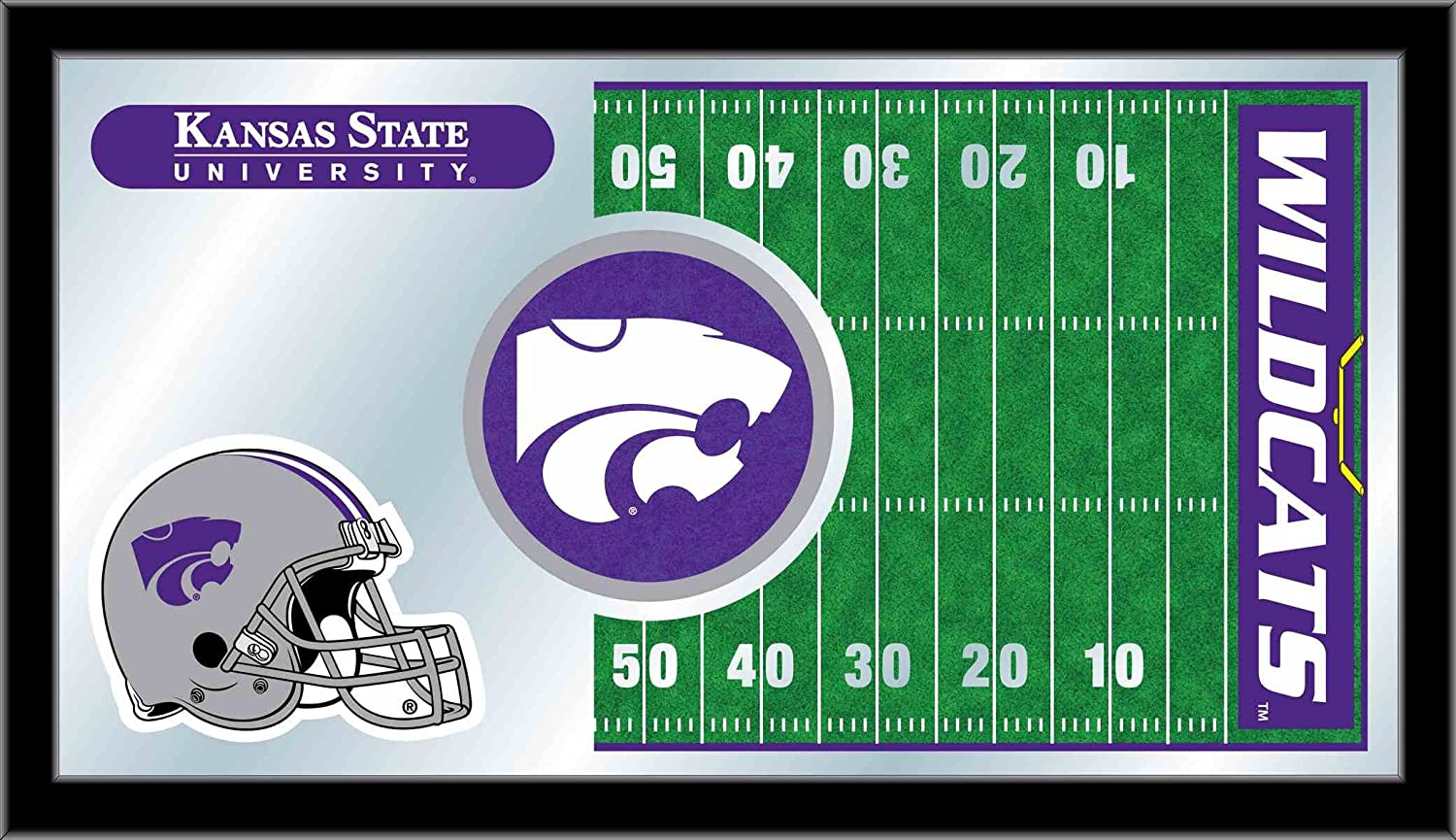Holland Bar Stool NCAA Kansas State Wildcats 15 x 26-Inch Football Mirror