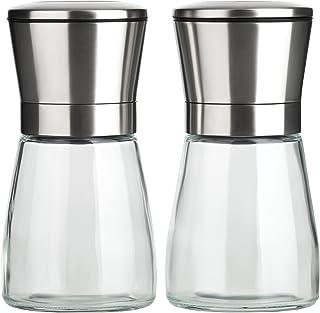 B.PRIME Molinillo de especias set de 2 CLASSIC I Molinillo manual con mecanismo de cerámica I Molinillo de sal I Molinillo de pimienta
