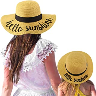 d50528aed09f76 C.C Womens Mommy and Me Girls Sayings Summer Beach Pool Floppy Dress Sun Hat