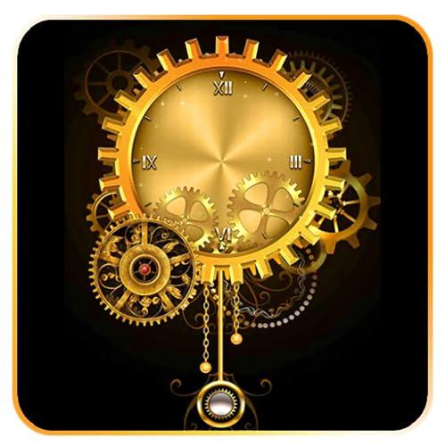 Abstract Luxurious Clock Live Wallpaper