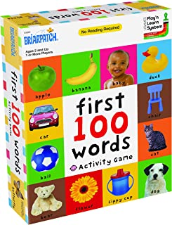 First 100 Words Activity Game, Active Fun and Learning for Toddlers and Children Ages 2 to 5 years from Briarpatch