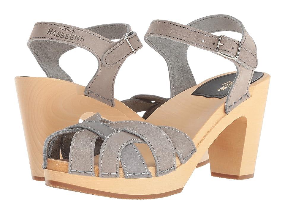 Swedish Hasbeens Pearl (Grey Nubuck) High Heels