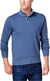 Tommy Hilfiger Mens Textured Knit Henley Sweater