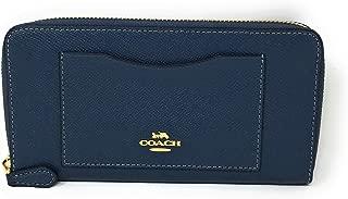 COACH F54007 ACCORDION ZIP WALLET DENIM LIGHT GOLD