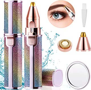 LEWONO Eyebrow Trimmer for Women Electric Hair Remover 2 in 1 Rechargeable Trimming Epilator Kit...