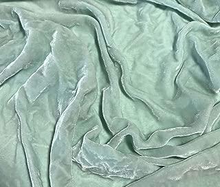 Seafoam - Hand Dyed Silk Velvet