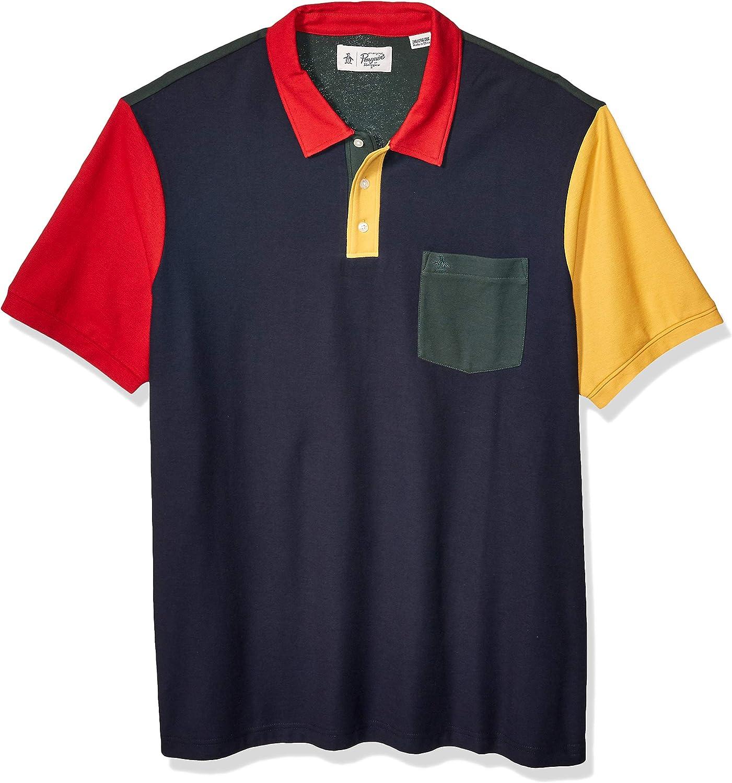 Original Penguin Men's Short Sleeve Colorblock Polo