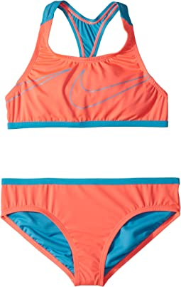 Macro Swoosh Racerback Sport Top Brief Set (Big Kids)