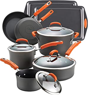 Rachael Ray Hard-Anodized 12-Piece Cookware Set with Bakeware