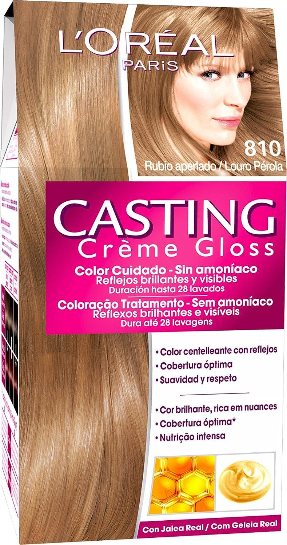 LOréal Paris Coloración Sin Amoniaco Casting Créme Gloss 810 Rubio Aperlado