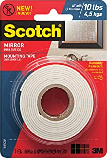 Scotch Brand 051141402895 Scotch Mirror Mounting Tape, x 60-inches, White, 1-Roll (515P), 1