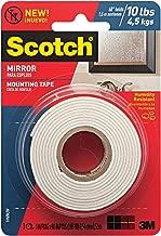 Scotch Brand 051141402895 Scotch Mirror Mounting Tape, x 60-inches, White, 1-Roll (515P), 1