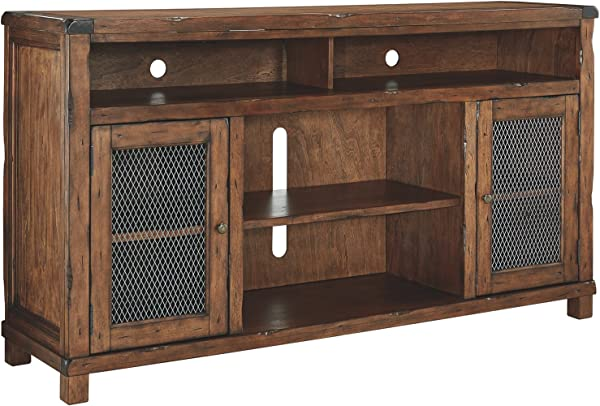 Ashley Furniture Signature Design Tamonie Large TV Stand Rustic Brown