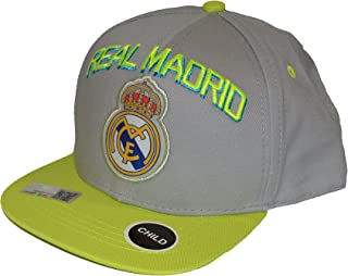 Real Madrid Fc Club Snapback Child Kids Adjustable CAP Hat -Grey - Neon NEW Season