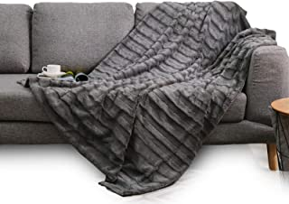 Cheer Collection Ultra Soft Faux Fur to Microplush Reversible Cozy Warm Throw Blanket - 86