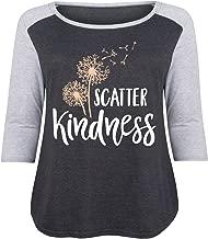 HARPER & QUINN Scatter Kindness - Ladies Plus Size Raglan