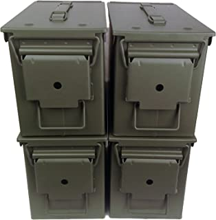 4-pack Mil Spec 50 Cal M2A1 Empty Ammo Cans
