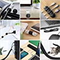 10-Pack Cable Clips + 4-Pack Cable Sleeves + 3-Pack Cable Ties