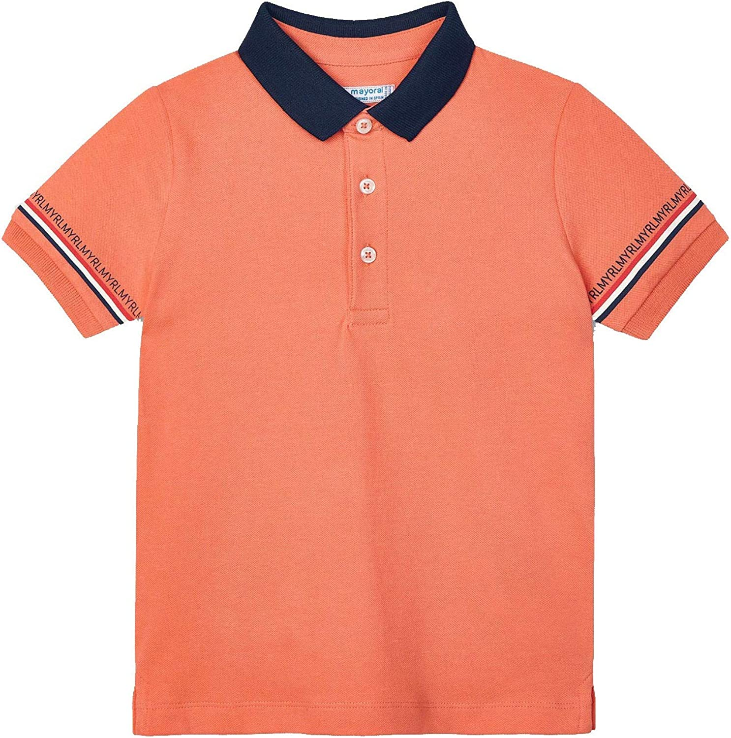 Mayoral - s/s semi Basic Polo for Boys - 3103, Apricot