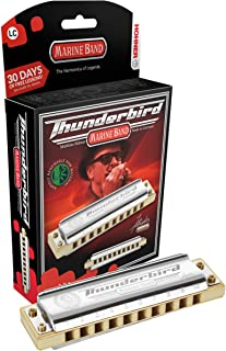 Hohner Accordions M2011BXLC Marine Band Thunderbird Diatonic Harmonica - Key of LC, multi-coloured (M2011BXL-C)
