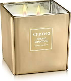 Sponsored Ad - SPRING Orchid Seduction Scented Candle with Natural Coconut Wax Blend | Fragrance Made in France | Spa & Ar...