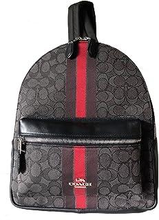 Coach Medium Charlie Signature Jacquard Backpack (Red Multi)