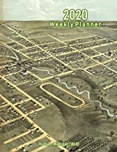 2020 Weekly Planner: Hudson, Michigan (1868): Vintage Panoramic Map Cover