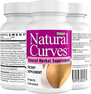 Natural Curves Biotech Supports Natural Breast Enhancement - Pills Supplement 60 Tablets