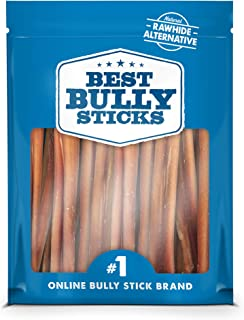 Best Bully Sticks Odor-Free Angus Bully Sticks - Made of All-Natural, Free-Range, Grass-Fed Angus Beef - Ha...
