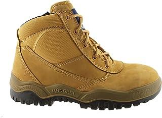 Mongrel 261050 Work Boots. Steel Toe Safety. Zip. Press Stud.