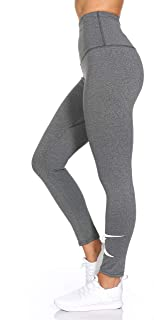 TKO Women's High Waist Leggings - Active Workout Pants with Waistband Pocket & Print