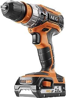 AEG 4935459423 Taladro Atornillador Compacto 18V-2,0 Ah-Pro Lithium 50Nm-bucha destacable 13mm