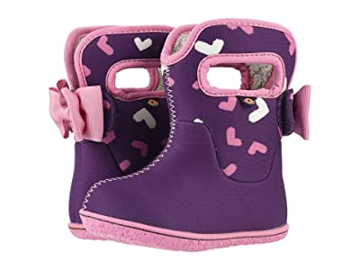 Bogs Kids Baby Bogs Hearts (Toddler) (Purple Multi) Girls Shoes
