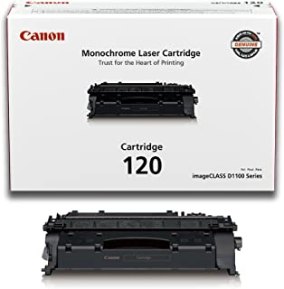 Canon Genuine Toner Cartridge 120 Black (2617B001), 1 Pack for Canon imageCLASS D1120, D1150, D1170, D1180, D1320, D1350, D1370, D1520, D1550 Laser Printers