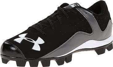 Under Armour Men's Micro G Pursuit Running Shoe Baseball, Anthracite (100)/Black, 7.5