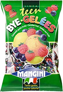 Mangini, Italian Mini Fruit Jelly Candy (Bye Gele) 150g Bag (5 pcs)