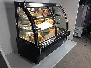 INTBUYING Commercial Display Case 220V Refrigerator Cake Showcase Bakery Cabinet 47 Inch 35.6℉-46.4℉
