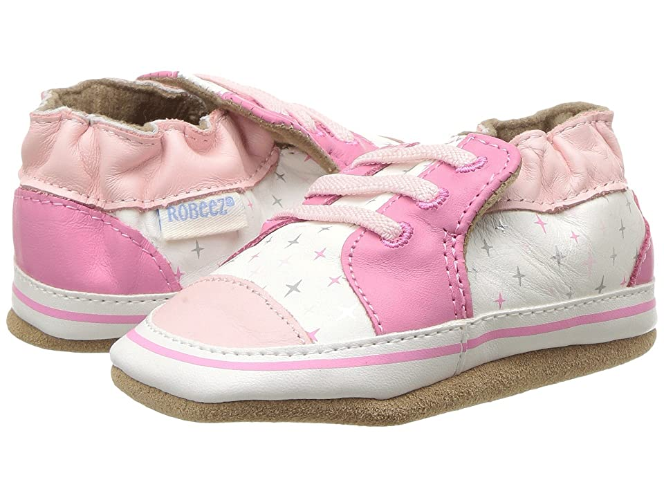Robeez Trendy Trainer Soft Sole (Infant/Toddler) (Pink) Girls Shoes