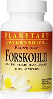 Planetary Herbals Forskohlii Full Spectrum by Planetary Ayurvedics 130mg, Healthy Weight Management, 60 Capsules