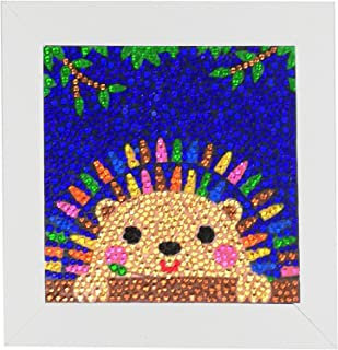 ALTRUB Funny DIY Mosaic Craft Kits - Brilliant 5d Diamond Painting Kits with Wooden Frame for Children up 6 Years Old (Hed...