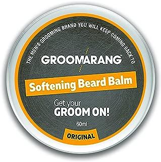 Groomarang Premium Softening Beard Balm For Beards, Mustache, & Goatee 60ml - Promotes Healthy Beard Growth - 100% Natural, Organic & Vegan