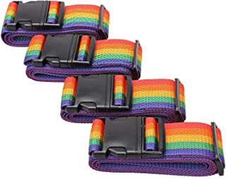 YEBMoo 4 Pack Luggage Strap, Adjustable 180cm, Long Travel Packing Belt Suitcase Baggage Security Straps