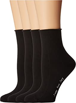 Roll Top Shortie Socks 4-Pack