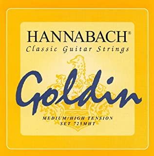 CUERDAS GUITARRA CLASICA - Hannabach (725/MHT) Goldin Super Carbon (Juego Completo