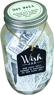 Top Shelf Get Well Wish Jar ; Unique and Thoughtful Gifts for Friends and Family ; Kit Comes with 100 Tickets and Decorative Lid