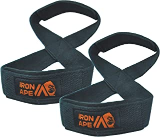 IRON APE Figure 8 Straps, for Deadlift, Weight Lifting, Shrugs, and Weightlifting. Suitable for Men and Women, Entry Level, 2 Sizes.