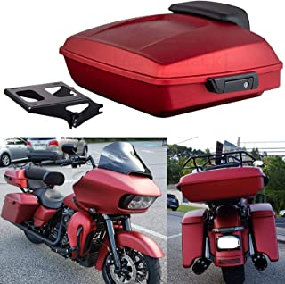 Wicked Red Denim Razor Tour Pack Black Mounting Rack Luggage Trunk For Harley Touring Road Glide Street Glide Road Glide Special 2019