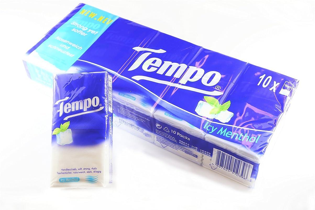 ノミネート克服するワイヤーTempo Regular Icy Menthol(テンポティッシュ レギュラー アイシィメンソール 小袋10個入)